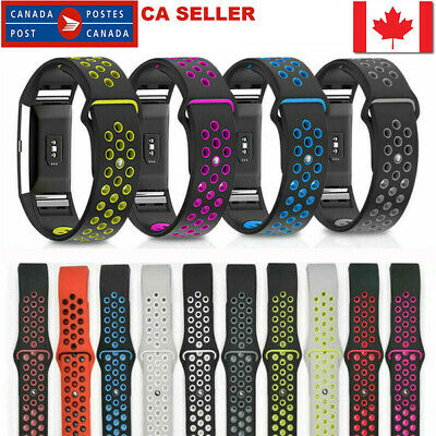 $ CDN11.99 • Buy For Fitbit Charge 2 Dual Band Breathable Silicone Durable Size Small/Large