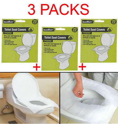 £6.95 • Buy 60pk Summit Disposable Paper Toilet Seat Cover Flushable Hygienic Health Camping
