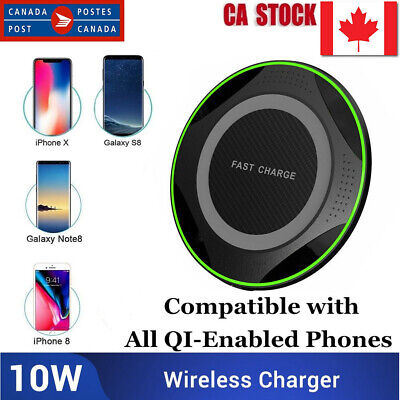 $ CDN11.55 • Buy High Efficiency 10W Qi Wireless Charger Charging Pad Ultra Strong For Universal