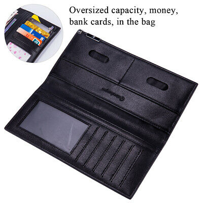 AU7.98 • Buy RFID Men's Pu Leather Long Bifold Wallet Cash ID Card Holder Coin Purse Black