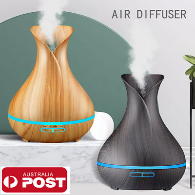 AU35.99 • Buy Aroma Aromatherapy Diffuser LED Essential Oil Ultrasonic Air Humidifier Purifier