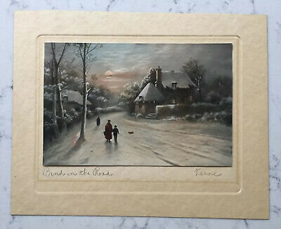 £61.47 • Buy Antique Ezra Elmer Keene Pencil Signed Print Bend In The Road Colored Lithograph