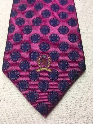 $11.76 • Buy Tommy Hilfiger Mens Tie Fuschia With Blue 4 X 60