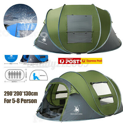 AU94.75 • Buy 4-8 Persons Pop Up Tent Family Tent Camping BeachWindproof Ultralight Auto Open