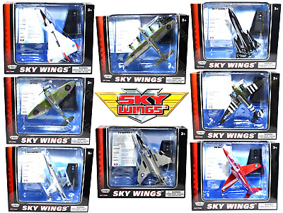 £14.99 • Buy Motormax Sky Wings Diecast 6  Metal Aircraft Toys - WW2 Warbirds & Jet Fighters