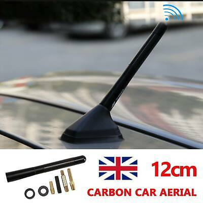 Car Bee-sting Stubby Short Black Carbon Fibre Aerial Ariel Arial Mast Antenna Uk • 4.79£