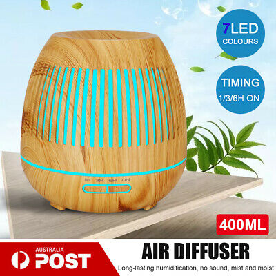AU27.53 • Buy Aromatherapy Diffuser With Bluetooth Speaker 550ml Oil Humidifier Air Purifier