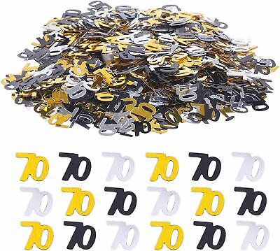 £2.29 • Buy Black Gold & Silver 70th Birthday Party Table Confetti Decorations Age Sprinkles