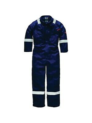Dickies Proban Coverall Overall, Flame Retardant, Boiler Suit, Navy FR SIZE 54R • 18.99£