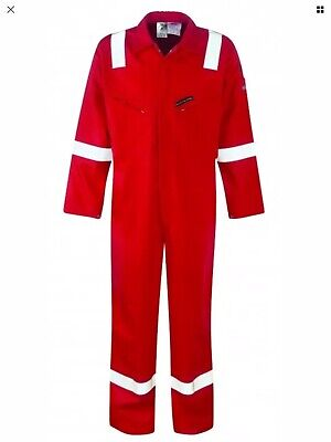 Dickies Proban Coverall Overall, Flame Retardant, Boiler Suit, Red FR SIZE 54R • 18.99£