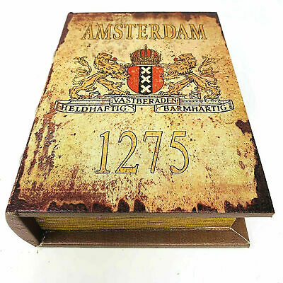 Amsterdam Authentic Old Style Book Stash Rolling Box , Safe Box  • 24.99£
