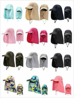 $7.99 • Buy 360°Outdoor UV Protection Cover Sun Hat Cap Fishing Hunting Hiking Wide Brim US