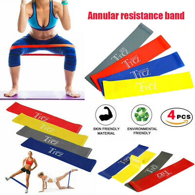 AU16.99 • Buy 4PCS Resistance Loop Bands Crossfit Strength Mini Band GYM Fitness Exercise