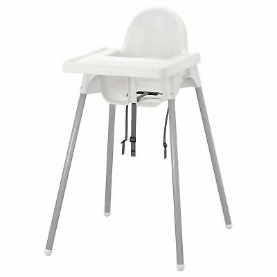 New IKEA ANTILOP Baby Children High Chair + Safety Belt Feeding Tray Chair White • 28.99£