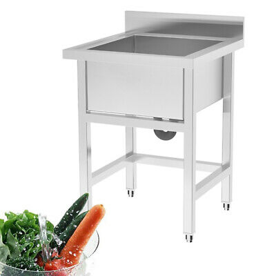 Commercial Stainless Steel Kitchen Restaurant Sink Laundry Tub 1 Bowl Waste Incl • 185.95£