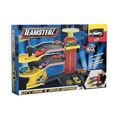 Teamsterz City Park & Drive Garage Includes Car, Lift & Helipad Toy Car Park NEW • 15.52£