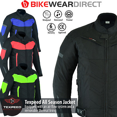Motorbike Motorcycle Jacket Waterproof With CE Armour Protection Thermal Biker • 54.99£