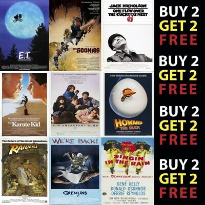 £7.25 • Buy Classic Movie Film Posters Poster Prints A4 - A3 Prints On Metal Plaque
