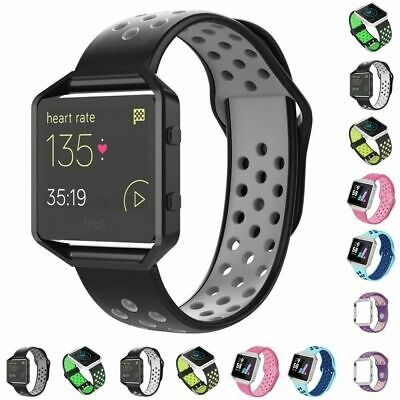 $ CDN11.81 • Buy For Fitbit Blaze Silicone Replacement Wristband Sport Strap Watch Band + Frame