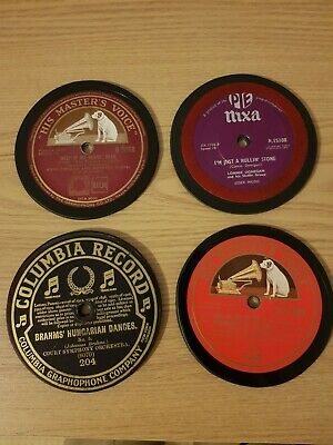Set Of Four 78rpm Re-cycled Vinyl Record Drinks Coasters • 7£