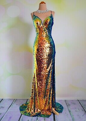 £138.20 • Buy Sequin PROM 2020 EVENING PAGEANT FORMAL BALL GALA DRESS WEDDING GOWN 4  Mirage
