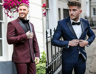 $ CDN176.98 • Buy Mens Cavani Tuxedo 2 Piece Suit Dinner Jacket & Trousers Slim Fit Wedding Suit