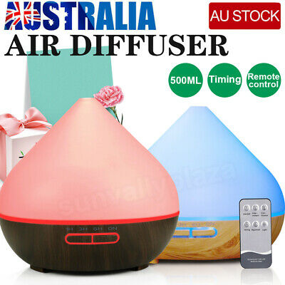 AU15.69 • Buy NEW Essential Oil Aroma Diffuser Aromatherapy LED Humidifier 500ML Air Purifier