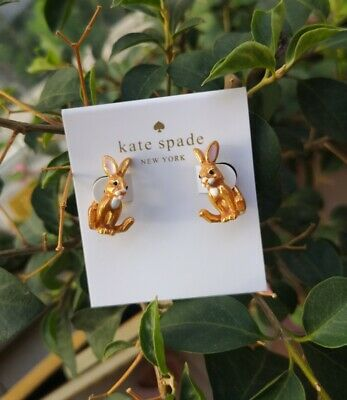 $ CDN27.99 • Buy Kate Spade Bunny Rabbit Ear Jacket Earrings