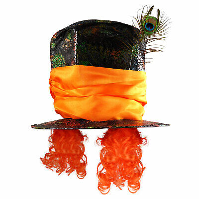 Adults Mad Hat Top Hatter Unisex Fancy Dress Party Fairy Tale Accessory • 10.49£
