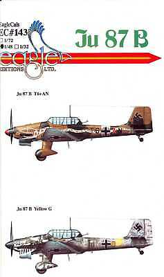 $14.50 • Buy EagleCals Decals 1/48 JUNKERS Ju-87B STUKA German Dive Bomber