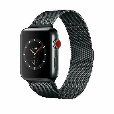 $ CDN528.41 • Buy Apple Watch Series 3 42mm Space Black Stainless Steel Case, Milanese Loop 4G LTE