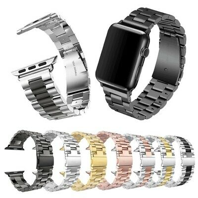 $ CDN11.99 • Buy Classical Stainless Steel Metal Strap Wrist Band For IWatch Series 5 4 3 2