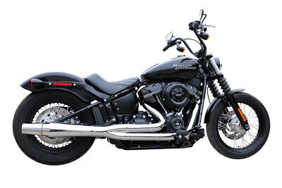 $1448 • Buy Thunderheader X-Series 2 - 1 Chrome Low Exhaust System Pipes Harley Softail 18+