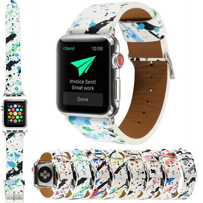 $ CDN14.23 • Buy Apple Watch Band 38mm 40mm 42mm 44mm Printed Bands For IWatch Strap Series 54321
