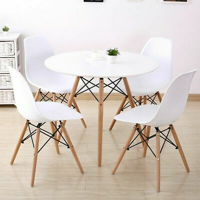 $162.99 • Buy 5 Piece Dining Table Set With 4 Chairs Wood Metal Kitchen Breakfast Furniture US