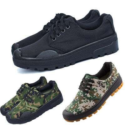 £10.59 • Buy Men's Anti-Skid Wear-Resistant Rubber Shoes Camouflage Military Training Shoes