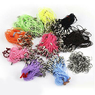 £2.99 • Buy Wholesale 100Pcs Cell Mobile Phone Dangle Strap/Lariat Charm Lanyard Cord Craft