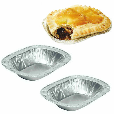 £10.49 • Buy Steak Pie Foil Dishes Small Oblong Oval Pies Fruit Cases Individual Meat Free PP