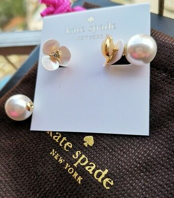 $ CDN28.06 • Buy Kate Spade New York Disco Pansy Mother Of Pearl Stud Earrings