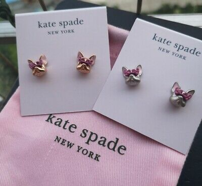 $ CDN33.02 • Buy Kate Spade New York Francois French Bulldog Stud Earrings