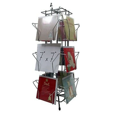 £49.14 • Buy 12 Pocket Card Rotating Counter Retail Display Stand For 7 X 7  Cards (K100)
