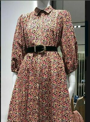 $24.49 • Buy Nwt Zara Multi Color Printed Shirt Dress Button Front 3/4 Sleeves Size L #1162