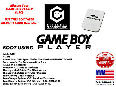 £12.36 • Buy Game Boy Player GameCube Memory Card Disc Replacement
