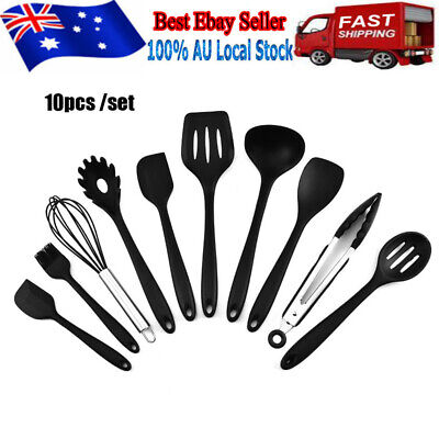 AU26.99 • Buy 10pcs/Set Silicone Kitchen Utensils Set Nonstick Cookware For Baking&Cooking