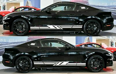 $28.70 • Buy For Ford Mustang GT 2005-14 Rocker Panel Door Side Stripes Decals Sticker X2