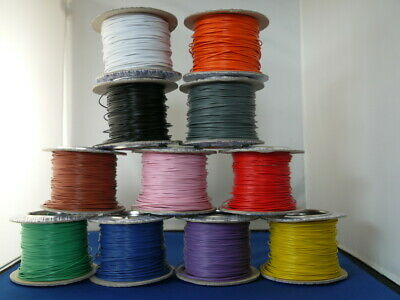 5 Metres Solid Core 1/0.6 Hook Up/Equipment Wire 11 Colours • 1.80£