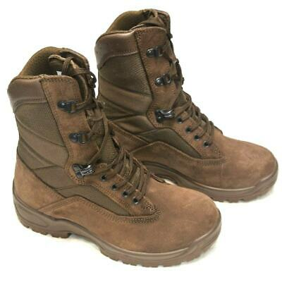 Brown Military Boots YDS Falcon Suede Fabric Military Issue Combat Boots ~ Super • 29.99£