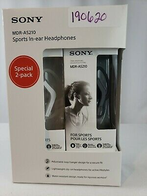 AU32.28 • Buy Sony Sports In-Ear Headphones, 2 Pk. - Black And White & Free Shipping