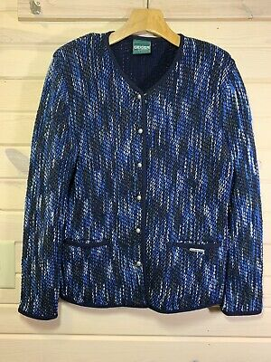 $29.99 • Buy GEIGER Collections Jacket Coat Wool Stretch Blend Blue Sz 40