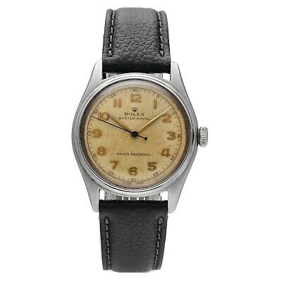 $ CDN3872.01 • Buy Vintage Rolex Oyster Royal Aged Arabic Dial Stainless Hand Wind Unisex Watch